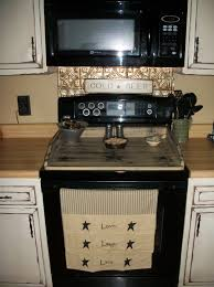 love the stove board and the towel well that sign on the stove is