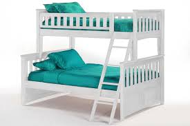 Kids Wood Bunk Bed With Trundle Ginger White Bunkbed The Futon Shop - Kids wooden bunk beds