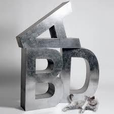 lettre en acier tendance déco les lettres s u0027affichent partout elle décoration