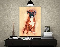 boxer dog wall art boxer art etsy