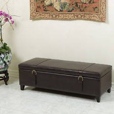 faux leather storage ottomans ebay