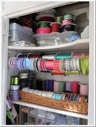 spools of ribbon my crafts closet ribbon organization idea in my own style