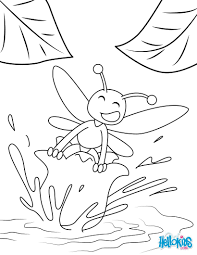lily and a bee coloring pages hellokids com