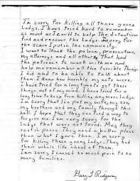 letter from gary ridgway to families of victims serial killer