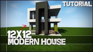 Modern House Minecraft Minecraft House Tutorial 12x12 Modern House Best House Tutorial