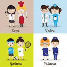 berufe mit design illustrationen niedlichen kinder in verschiedenen