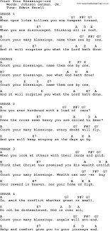 Count Your Blessings Lyrics And Chords Hymns About Song Count Your Blessings Complete Lyrics