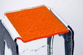 siege baroque siège baroque plexiglas design motif orange acrila spécialiste