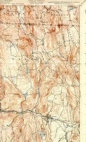 Map Of Northampton Ma Warwick Ma Nh Vt Quadrangle