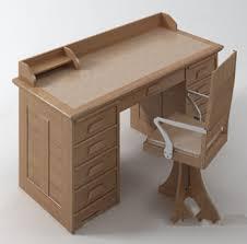 modele de bureau solid wood desk model 3d model free 3d models