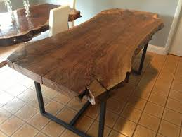 handmade live edge claro walnut dining table by ozma design