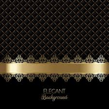 vector black luxury background with golden