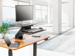 Sit Stand Office Desk by Sit Stand Workstation Table Or Desk Converter With Edge Clamp