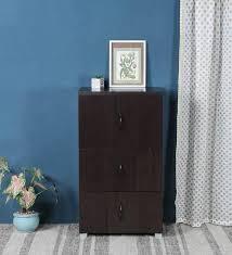 oak finish storage cabinet buy brad 6d storage cabinet in oak finish by housefull online