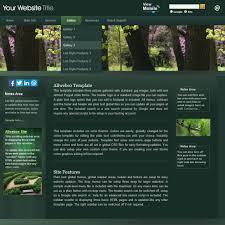website template allwebco dark green business website image