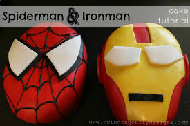 spiderman and ironman cakes a tutorial dragonfly designs
