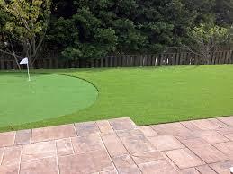 grass installation pima arizona backyard putting green backyard