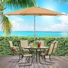 Patio Furniture Covers Walmart - bcp 9 u0027 aluminum patio market umbrella tilt w crank outdoor
