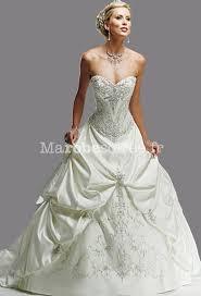 robe de mari e classique robe de mariée a ligne décolleté corset doté de broderie luxueuse