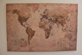 Diy World Map by Diy Mod Podge Canvas Map Happiness Centered