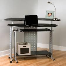 L Shaped Computer Desk Black by Comfort Products Regallo Expandable L Shaped Computer Desk Hayneedle