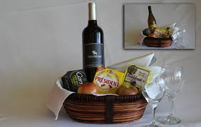 wine and cheese basket in room gift baskets yellowstone national park lodges