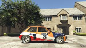 renault rally renault 5 gt turbo rally for gta 5
