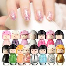wholesale new fashion cute baby doll design acrylic neon nail art