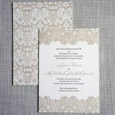 damask wedding invitations biltmore damask letterpress wedding invitation scotti cline designs