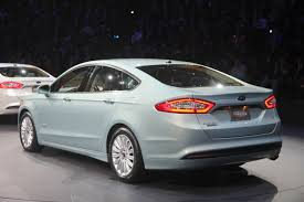 2013 ford fusion exhaust rear view of ford fusion energi notice single exhaust pipe ford