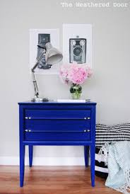 nightstand splendid great klein blue mid century nightstands