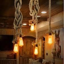 Rope Lights For Bedroom Retro Rope Pendant Light Loft Vintage L Restaurant Bedroom