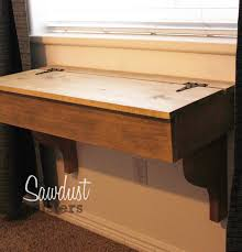 Diy Desk Vanity Diy Floating Desk Vanity With Storage Sawdust Sisters