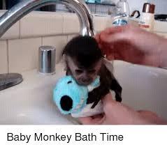 Baby Monkey Meme - baby monkey bath time monkey meme on sizzle