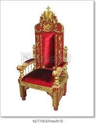 Throne Chair Free Print Of Royal King And Golden Throne Chair Isolated