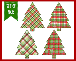 christmas tree clip art plaid christmas christmas tree clipart