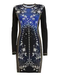 pretty thing dresses pretty thing printed jersey dress by roberto cavalli