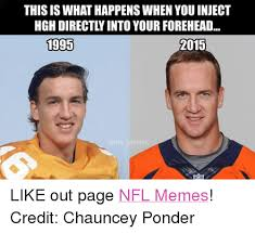 Ponder Meme - this is what happenswhen youinject hgh directly into your forehead