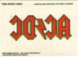acdc tattoo temporary tattoo ac dc collector