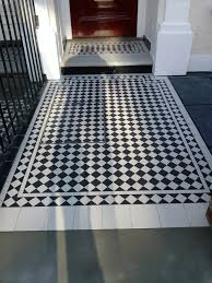 Victorian Mosaic Floor Tiles Black And White Victorian Mosaic Tile Path Clapham London London