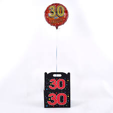 30th birthday delivery 30th birthday balloon in a box inflated and free delivery card