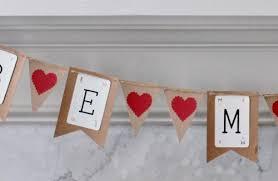 Valentines Day Vintage Decor by Vintage Valentine U0027s Banner From Recycled Cardboard Hometalk
