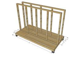 Plywood Storage Rack Free Plans by Ana White Ultimate Lumber And Plywood Storage Cart Diy Projects