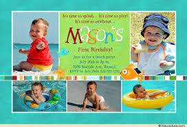 beach party collage invitation little boy u0027s photos sea baby u0027s