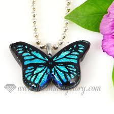 glass butterfly necklace images Butterfly handmade dichroic glass necklaces pendants jewelry wholesale jpg
