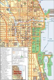 Chicago Street Map by Chicago In Maps Streetwise Downtown Chicago Map Laminated Street