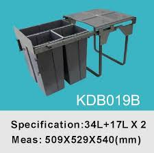 kitchen cabinet waste bins monsterlune