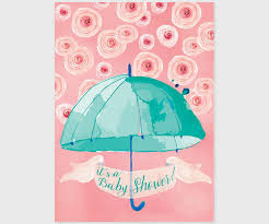 umbrella baby shower mint coral pink watercolor umbrella baby shower invitations