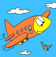 cute airplane airplane flying clouds clip art image