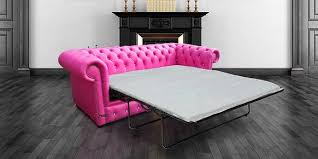 Pink Sofa Bed 3 Seater Crystallized Diamond Fuchsia Pink Leather Sofabed Offer